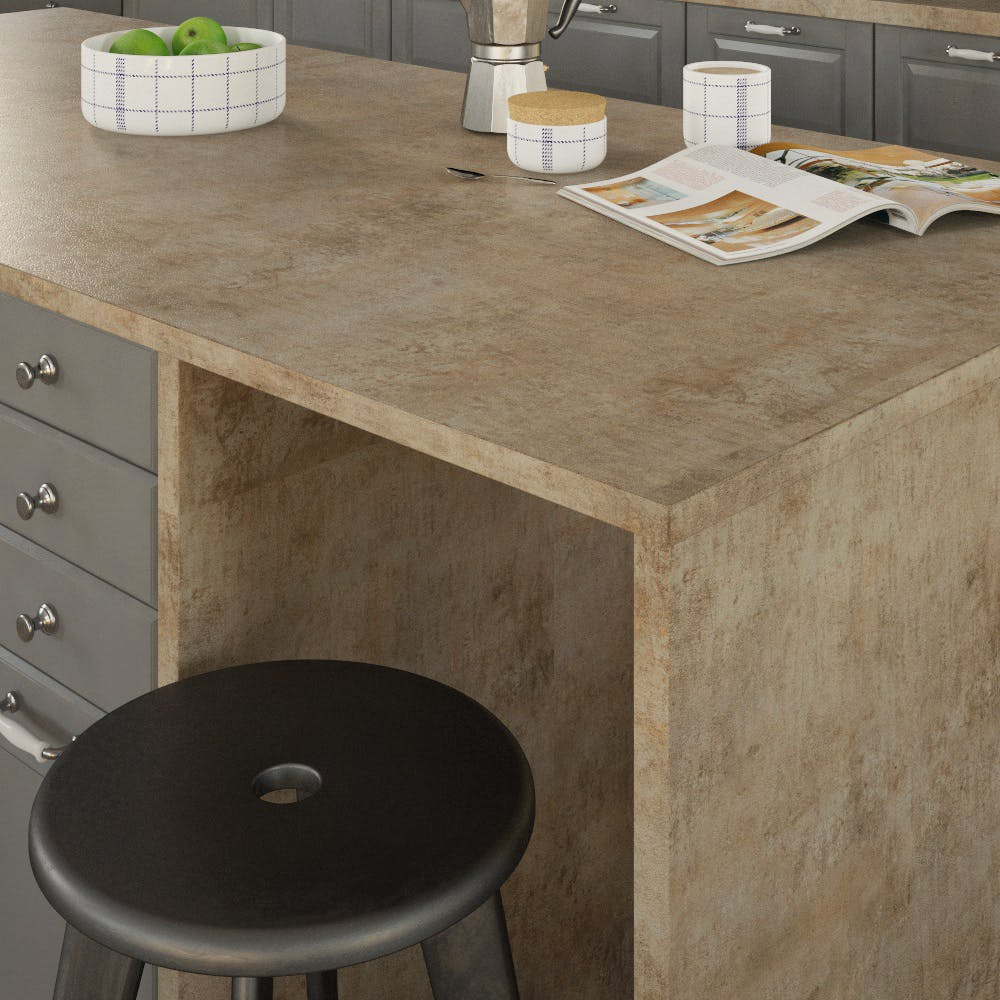 Getalit Campino Concrete (H 437 Ce) Double Sided Square Edged Worktop (4100mm x 650mm x 23mm)